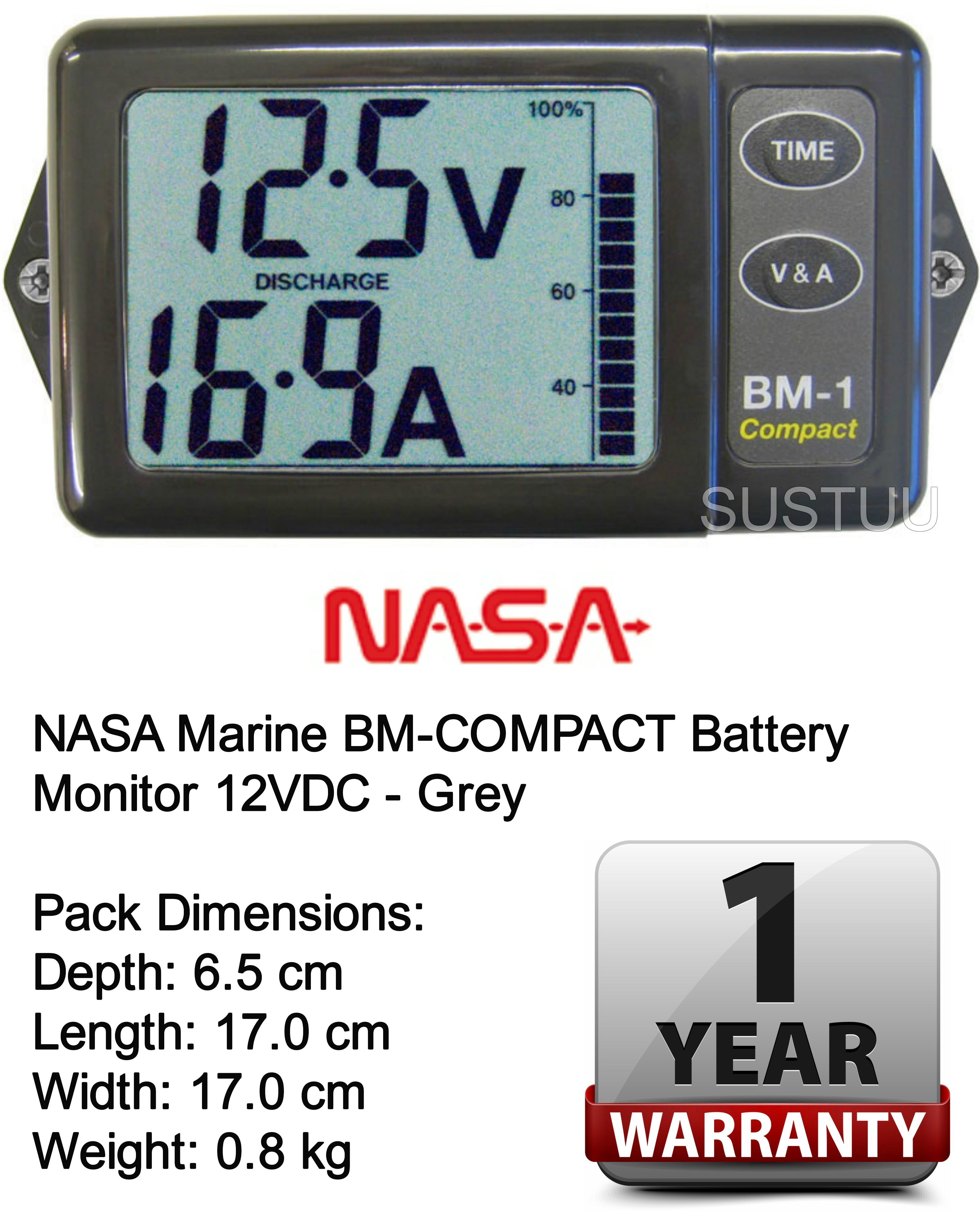 Marine Digital Battery Monitor : Nasa marine bm compact battery monitor vdc grey ebay