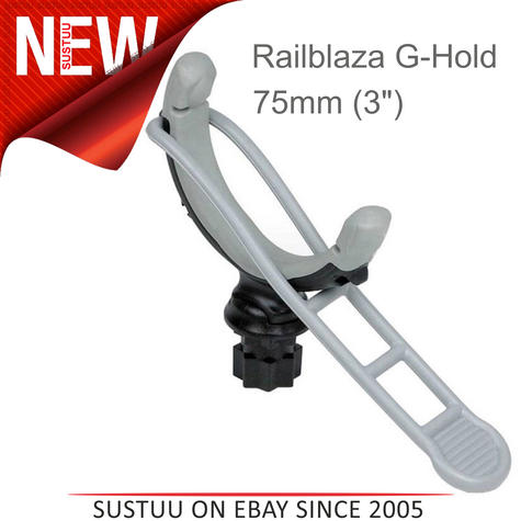 "Railblaza G-Hold 75mm(3"") - Single   For Holds Rod/Poles/Shovels/Boathooks   Black Thumbnail 1"