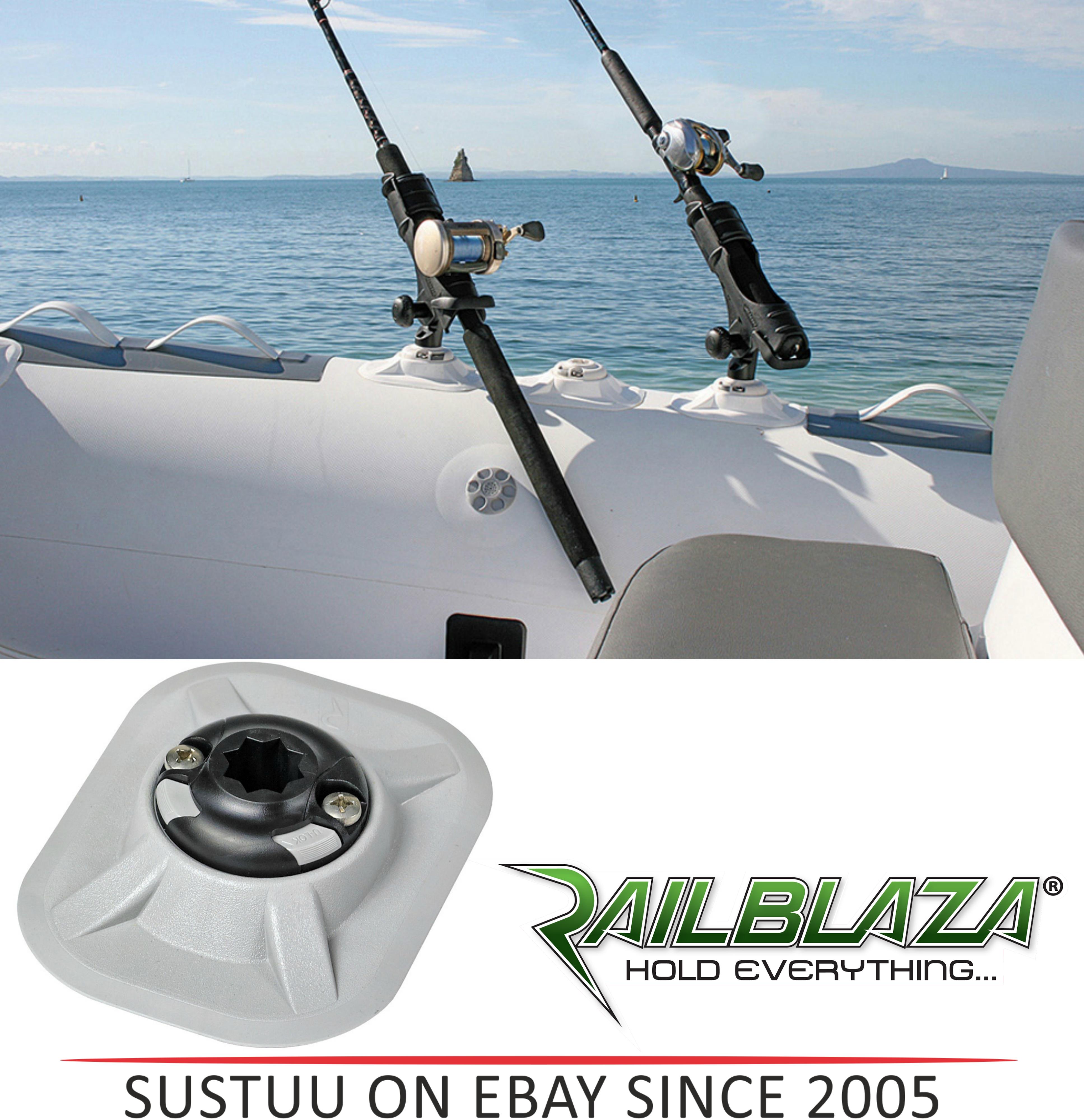 NEW Railblaza RIB Port inc StarPort|Inc 3M VHB Accessory|For Boats & Kayaks|Grey