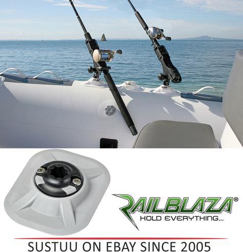 NEW Railblaza RIB Port inc StarPort|Inc 3M VHB Accessory|For Boats & Kayaks|Grey Thumbnail 1