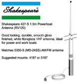 Shakespeare 427-S 1.5m Powerboat Antenna (RV120)
