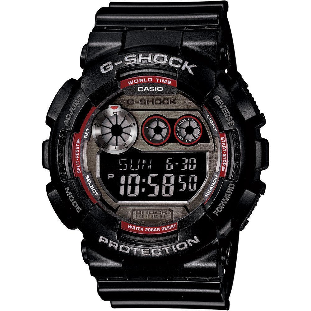 Casio Gents G-Shock 200M Digital Chronograph World Time Sport Watch GD-120TS-1ER