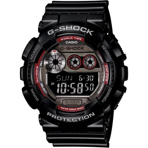 Casio Gents G-Shock 200M Digital Chronograph World Time Sport Watch GD-120TS-1ER Thumbnail 1