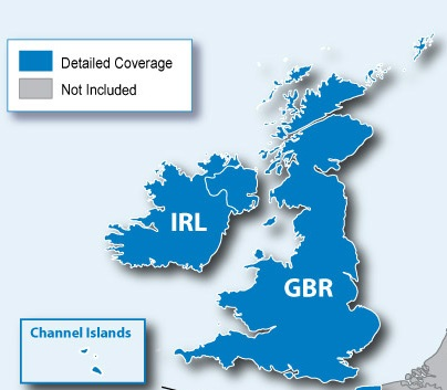 Map Of Ireland 3d.Garmin Nuvi 2408 Lt D Gps Satnav Lifetime Digital 3d Traffic Uk