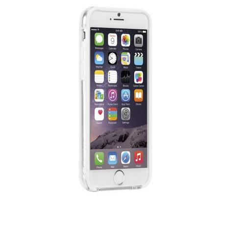 Case-Mate Tough Frame Ultra Slim Bumper Case for iPhone 6 6s 7 7S Clear/White Thumbnail 1
