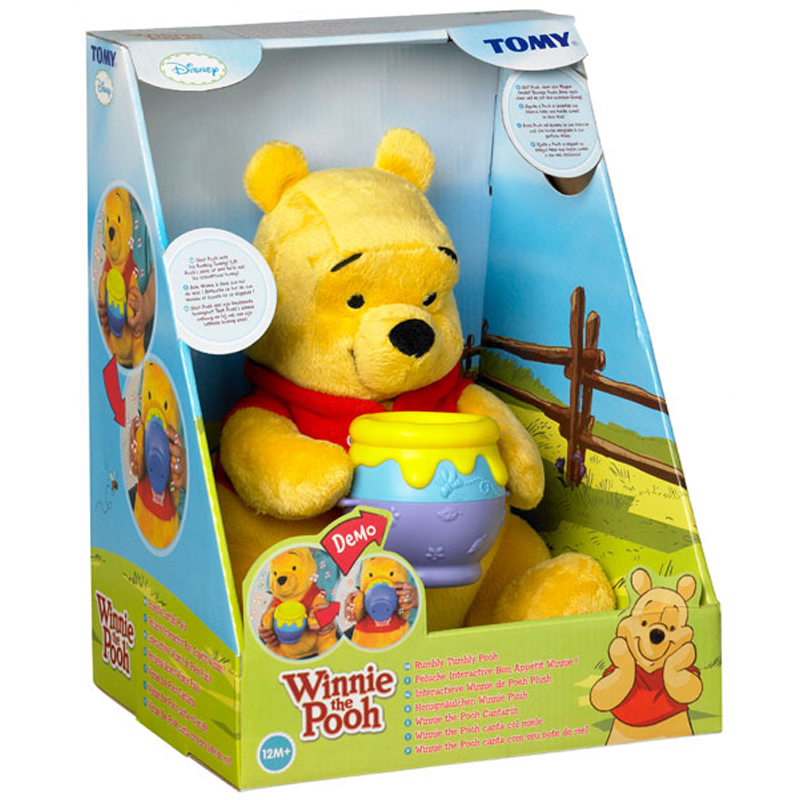 549164ad8866 Tomy Rumbly Tumbly Winnie the Pooh Kids Toddler Soft Plush Toy Play Time