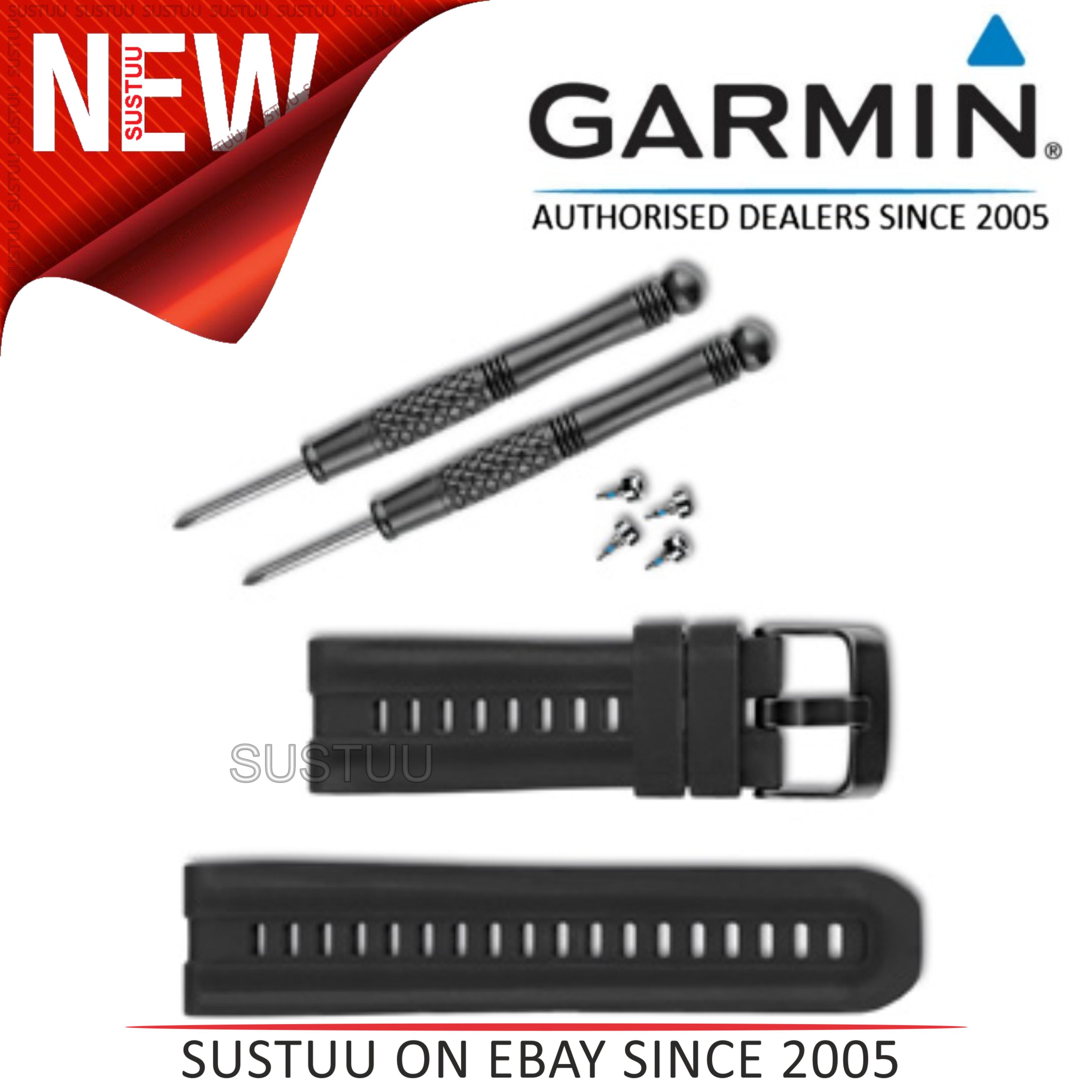 Garmin Replacement Watch Strap Band|For Fenix 2 Quatix D2 tactix|Silicone Black