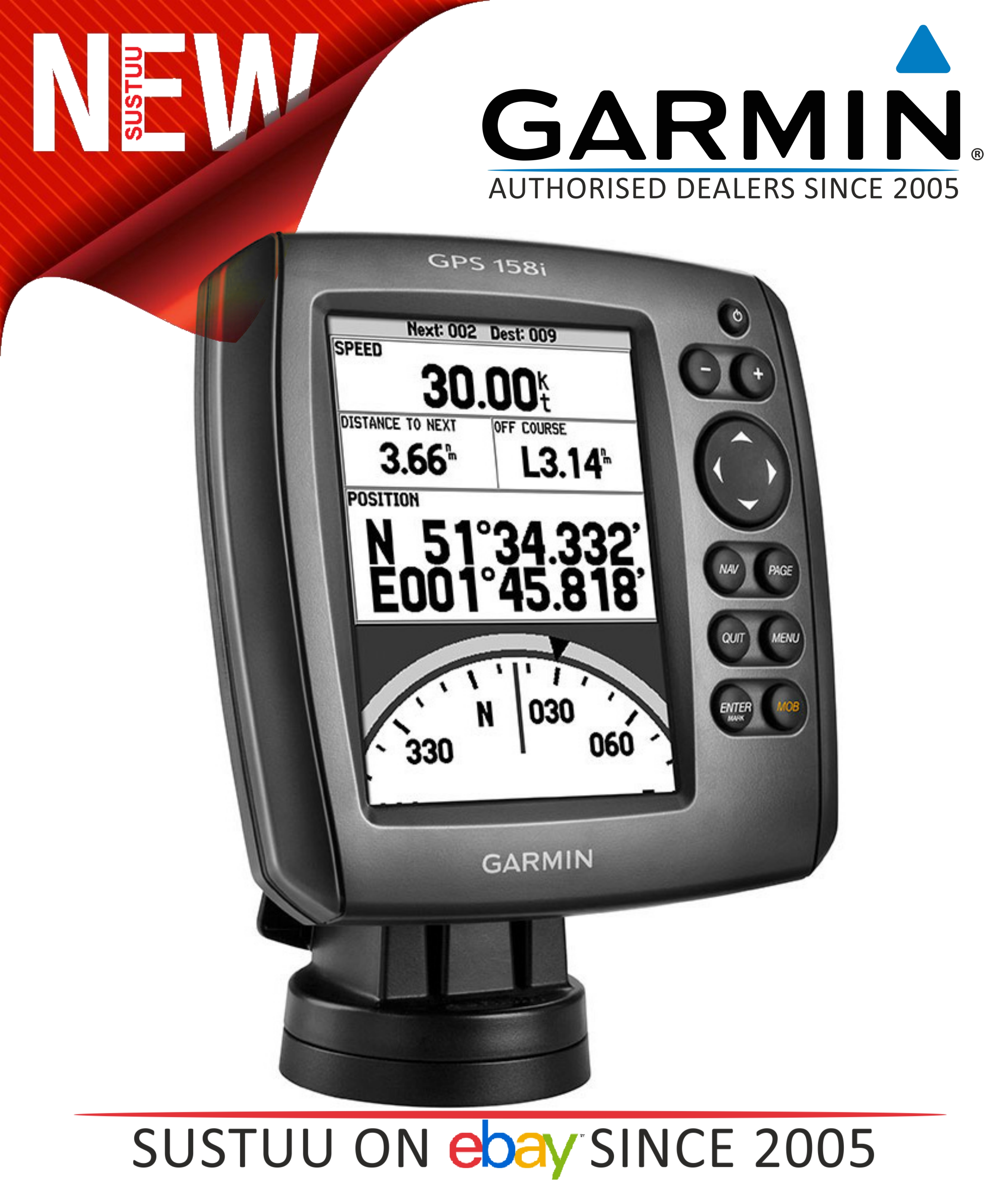 new garmin gps receiver158i with built in gps antenna plus