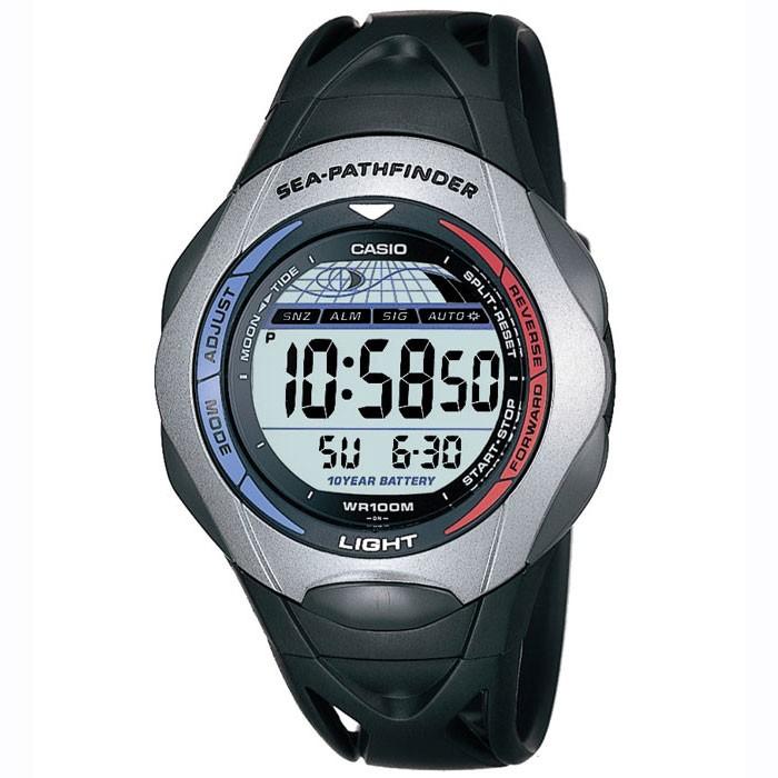 Casio sea pathfinder yacht sailing timer black digital for Casio pathfinder fishing watch