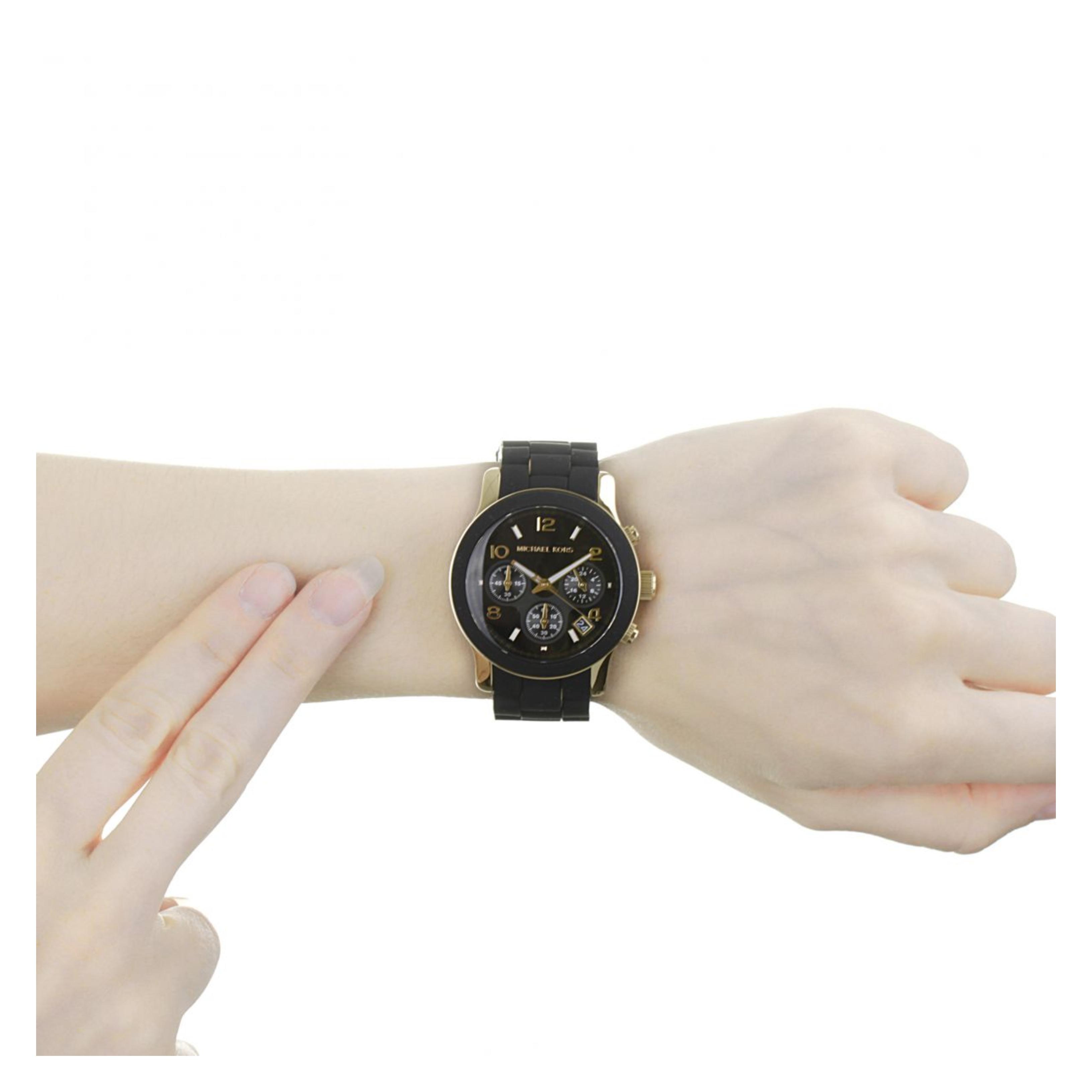 428098373b10a Sentinel Michael Kors Runway Women s Watch│Chronograph Black Dial│Bracelet  Band│MK5191