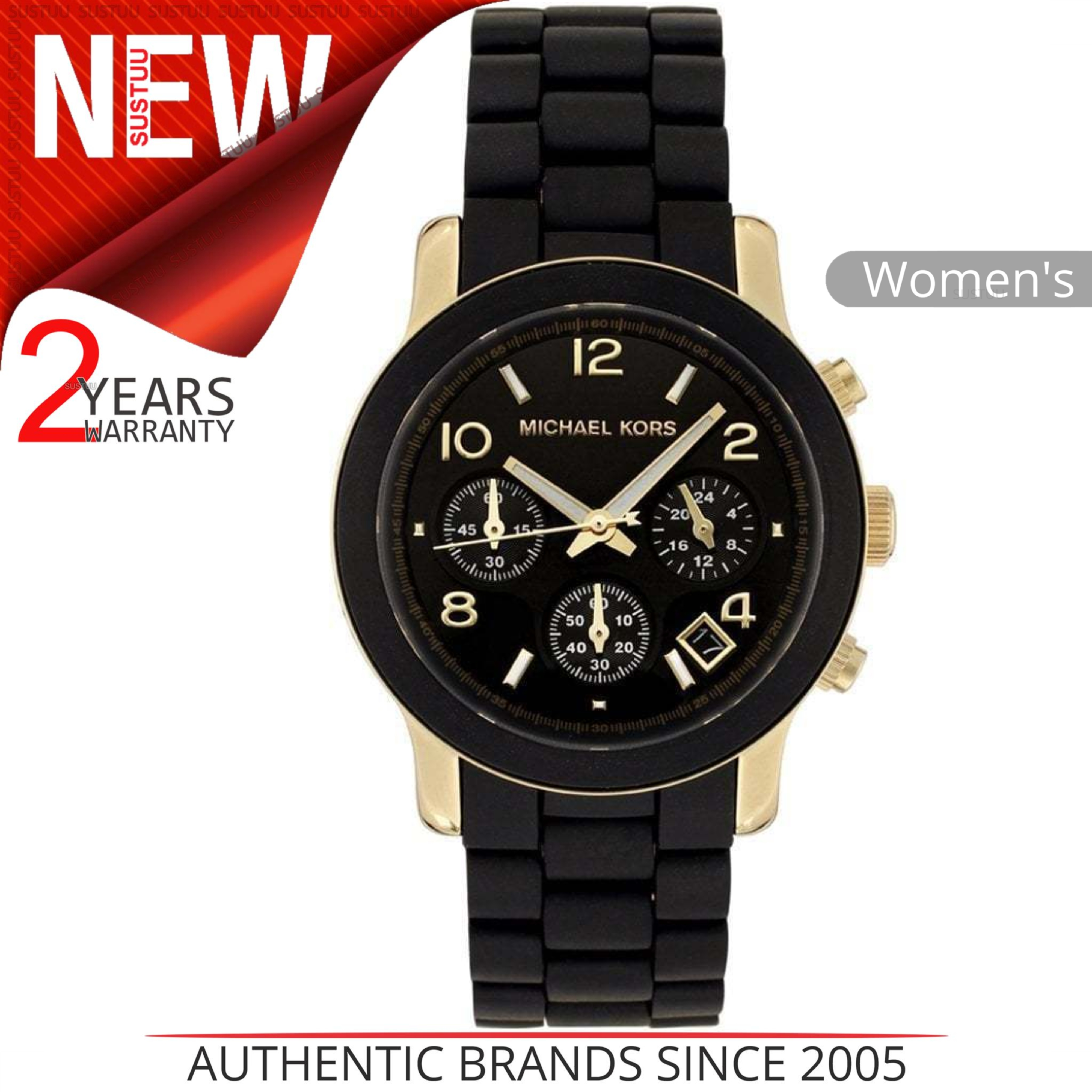 c58fdce1f661 Details about Michael Kors Runway Women s Watch MK5191│Chronograph Black  Dial│Bracelet Band