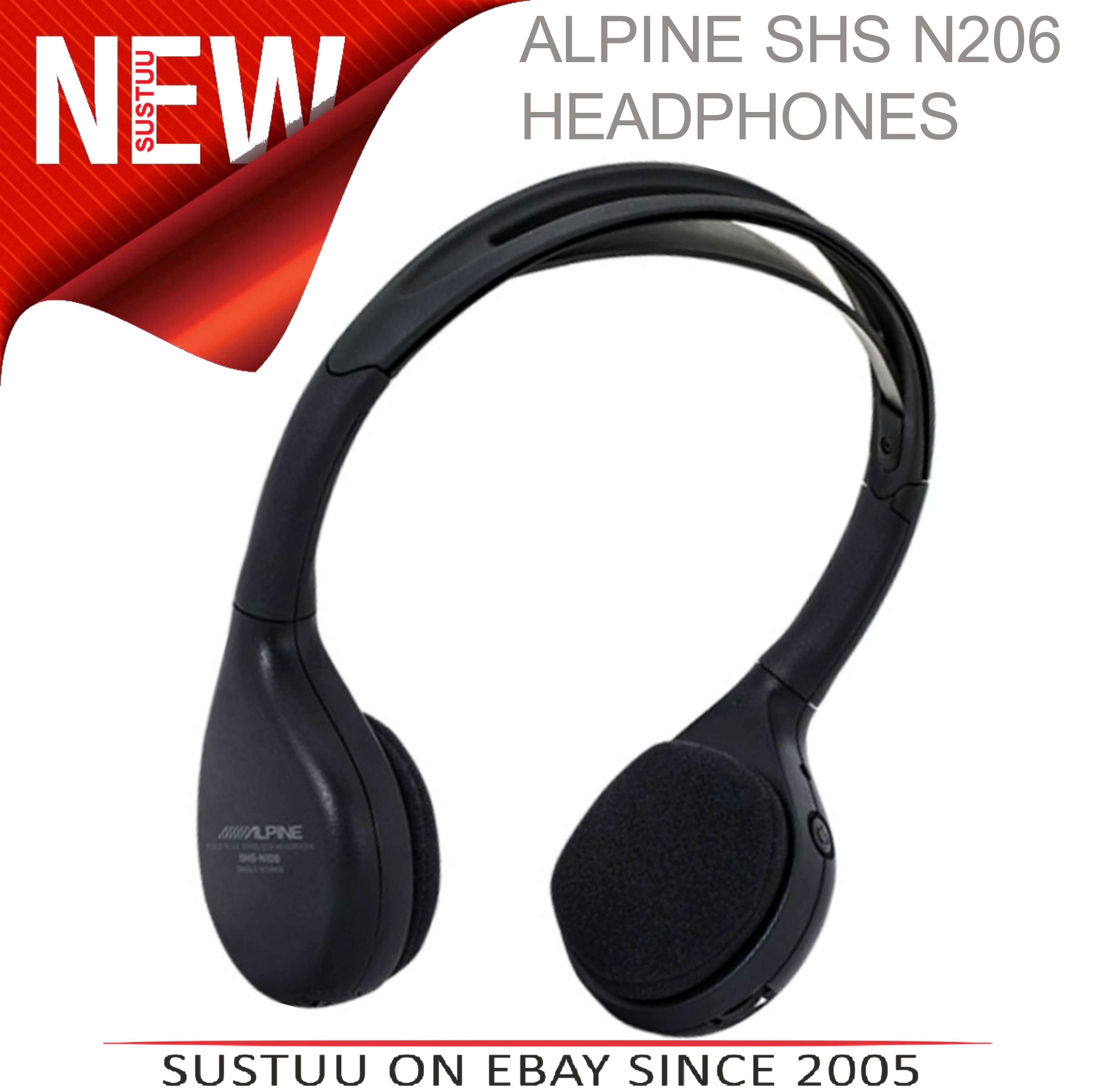 Alpine SHS-N206 Dual Channel Fold-Flat Wireless InfraRed Headphone LED Indicator