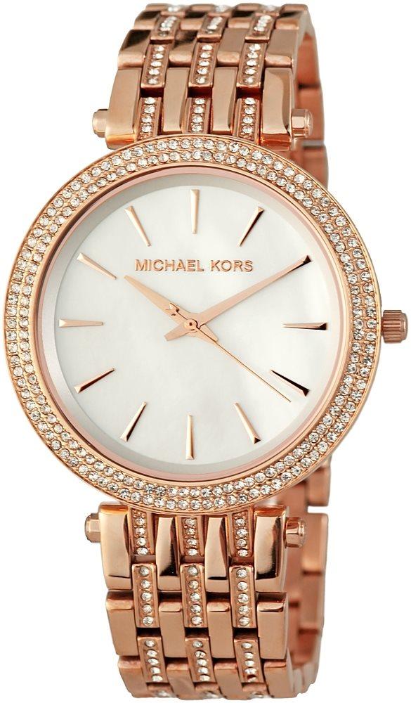 Michael Kors Ladies Darci Glitz Collection Rose Gold