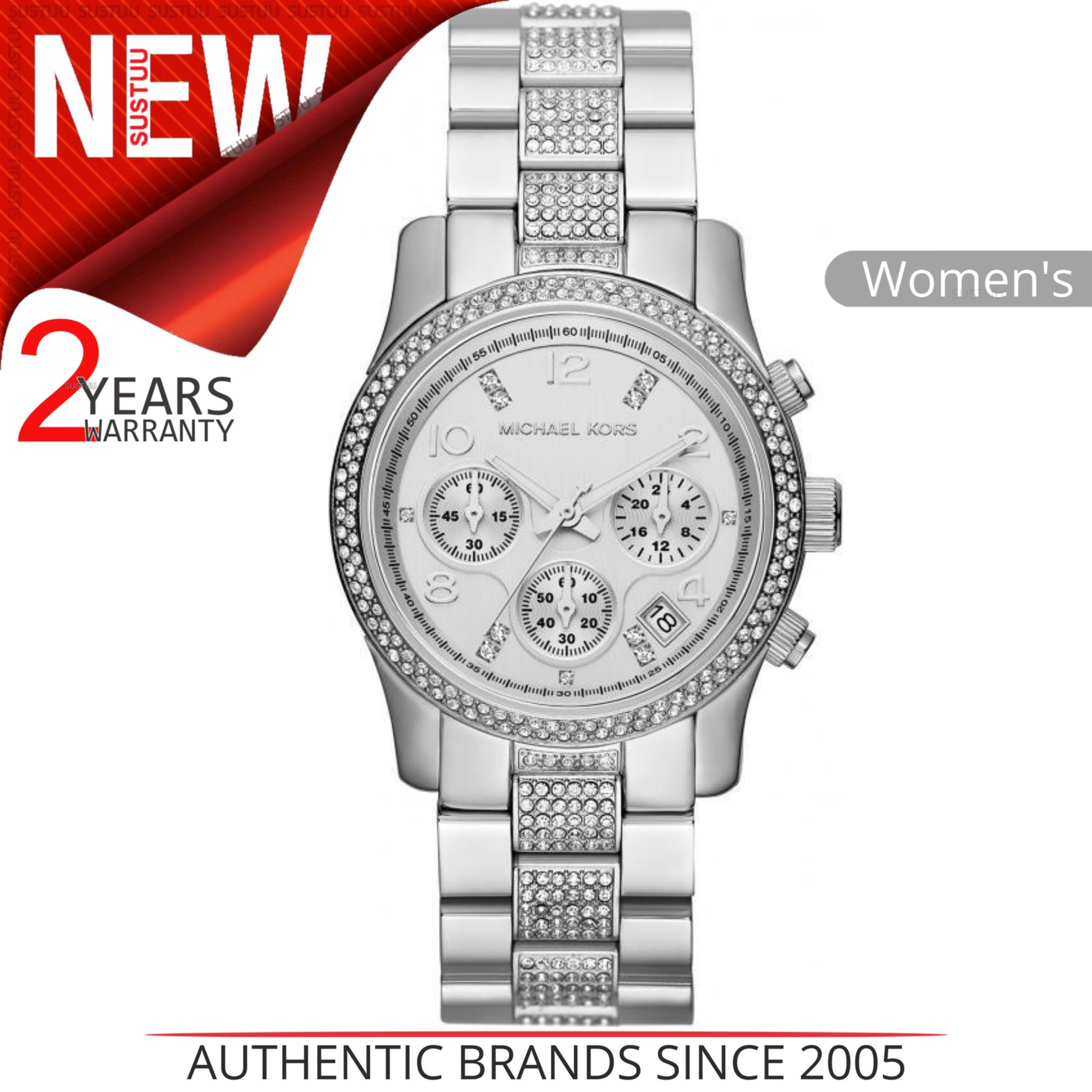 9eb94b2274f5 Details about Michael Kors Runway Women s Watch MK5825│Chronograph  Dial│Stainless Steel Strap