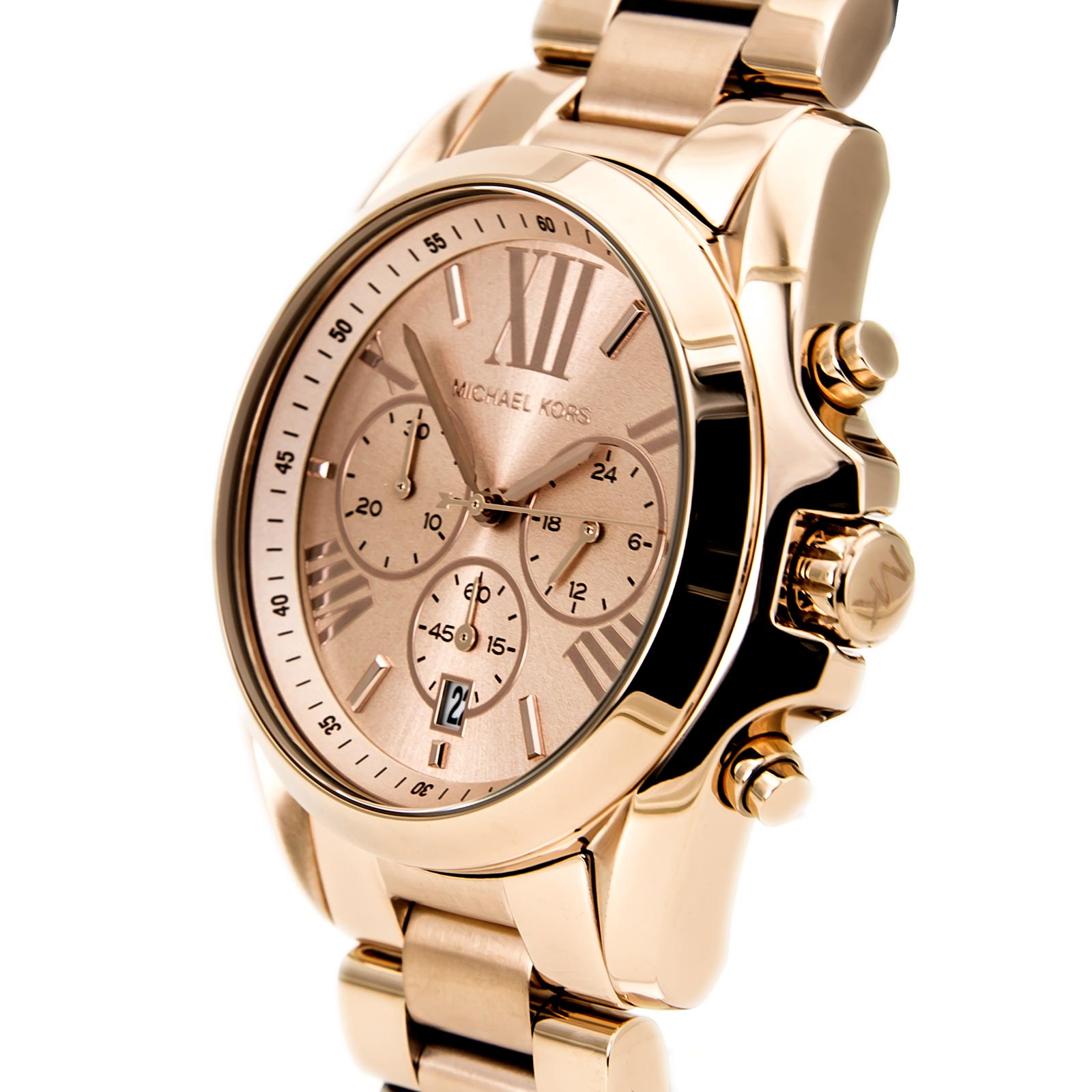 47a2abd15c69a MICHAEL KORS MK5503 LADIES ROSE GOLD BRADSHAW CHRONO WATCH - 2 YEAR ...