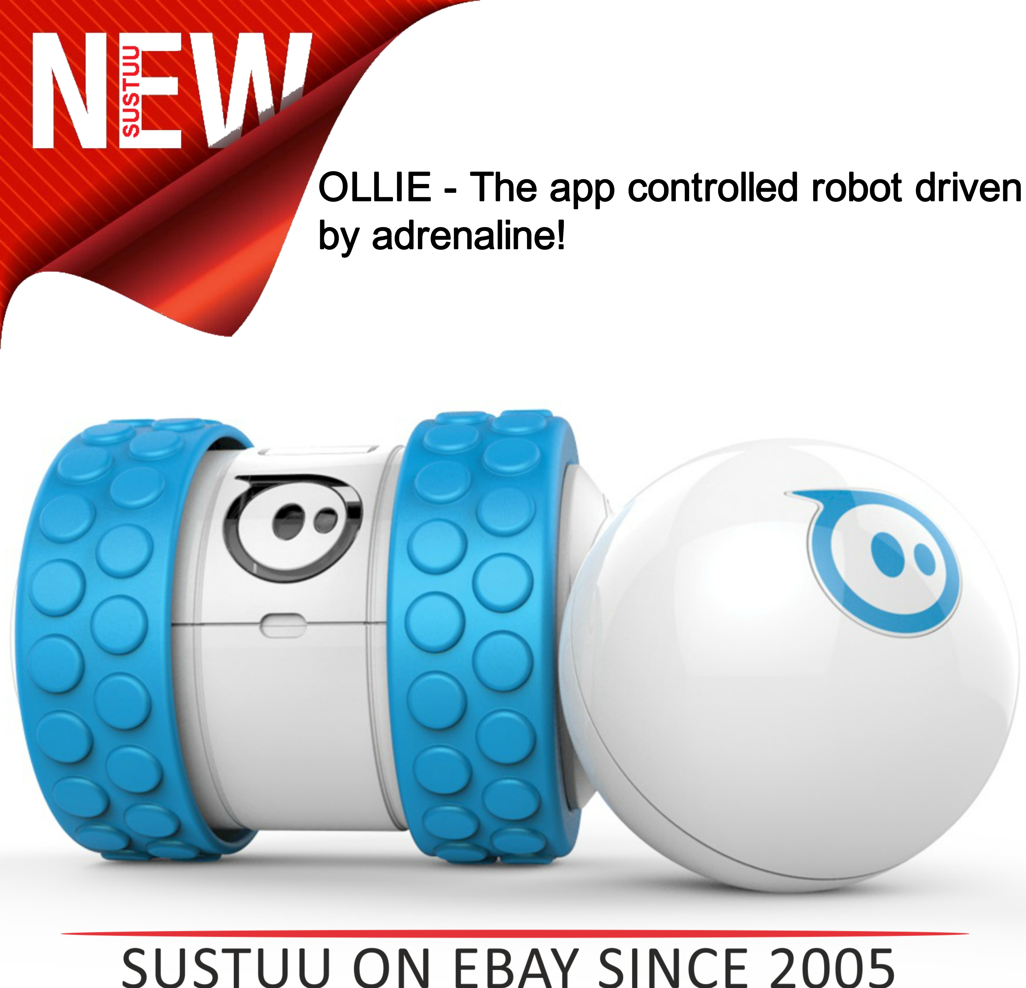 Ollie by Sphero App Controlled Bluetooth Robot Toy for iPad iPhone & Android B/W
