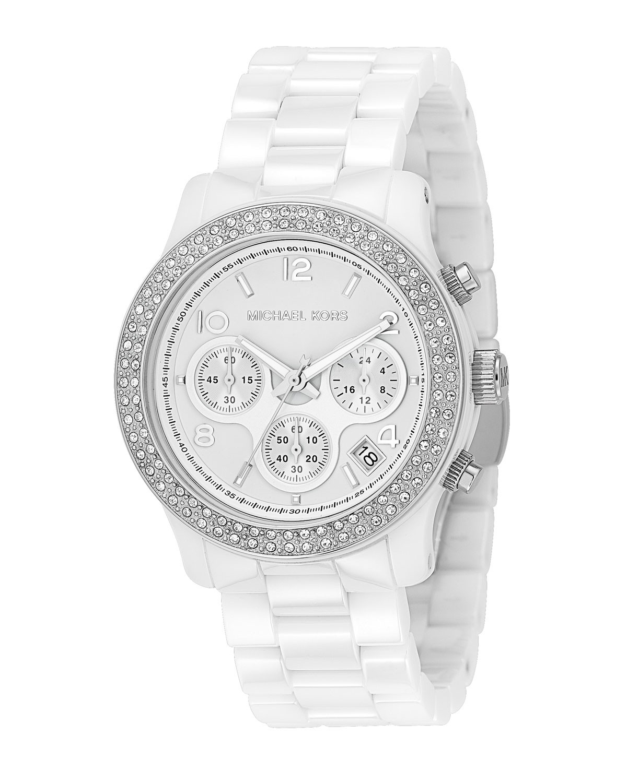 Michael Kors Runway Ladies White Ceramic Bracelet