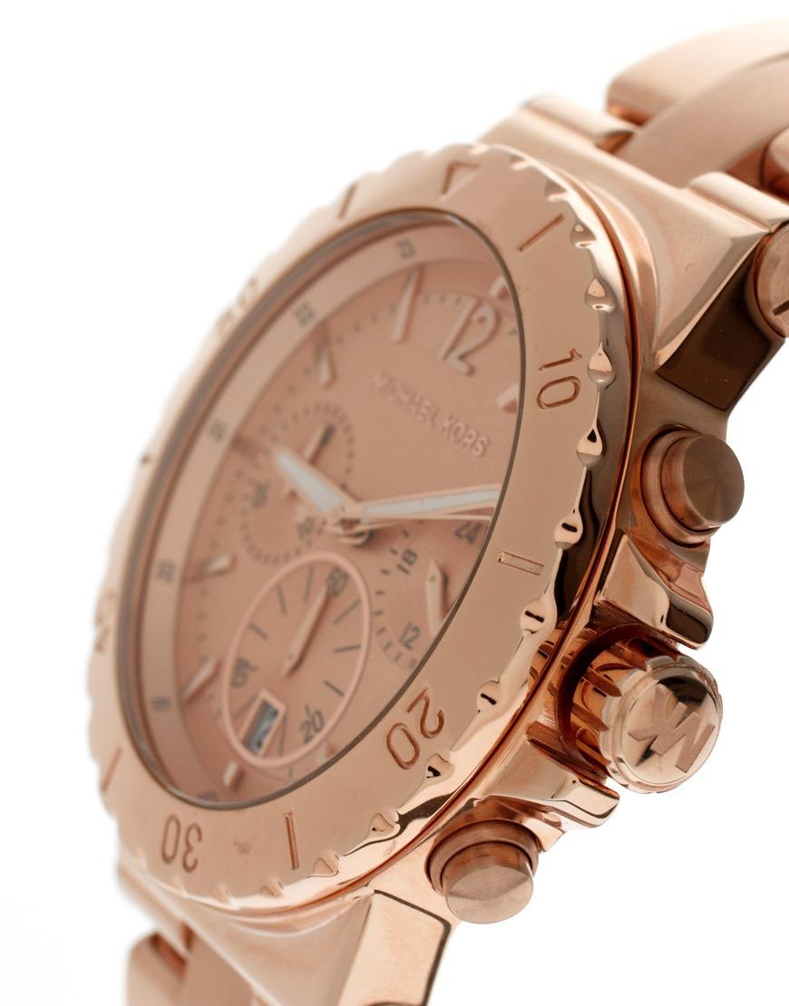 fa99c0bc4cb Michael Kors Ladies Dylan Rose Gold Chronograph Designer Watch MK5314  Thumbnail 2