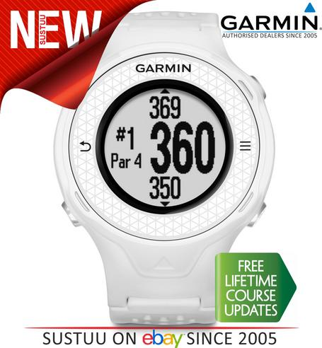 Garmin Approach S4|Golf GPS Rangefinder Watch|White|38000 Worldwide Golf Courses Thumbnail 1