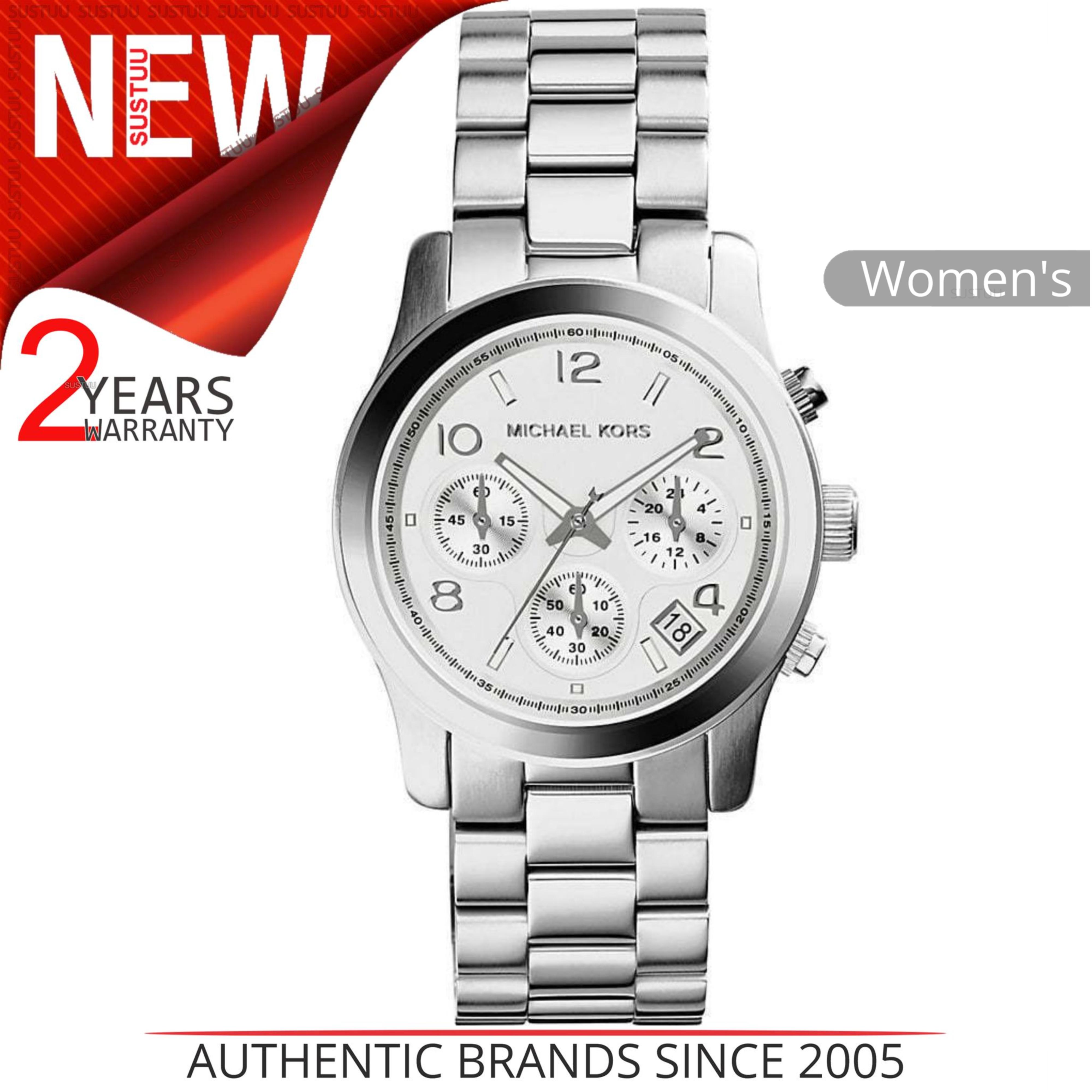62dbdaeb5603c Details about Michael Kors Runway Ladies Watch│Chronograph Dial│Silver Tone  Bracelet│MK5076