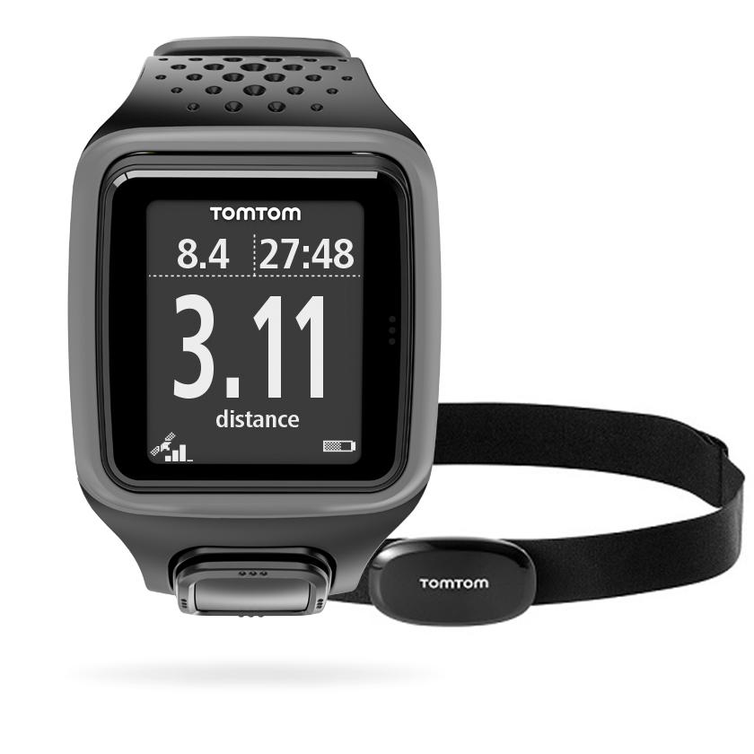tomtom runner gps hrm heart rate speed distance running sports watch grey sustuu. Black Bedroom Furniture Sets. Home Design Ideas