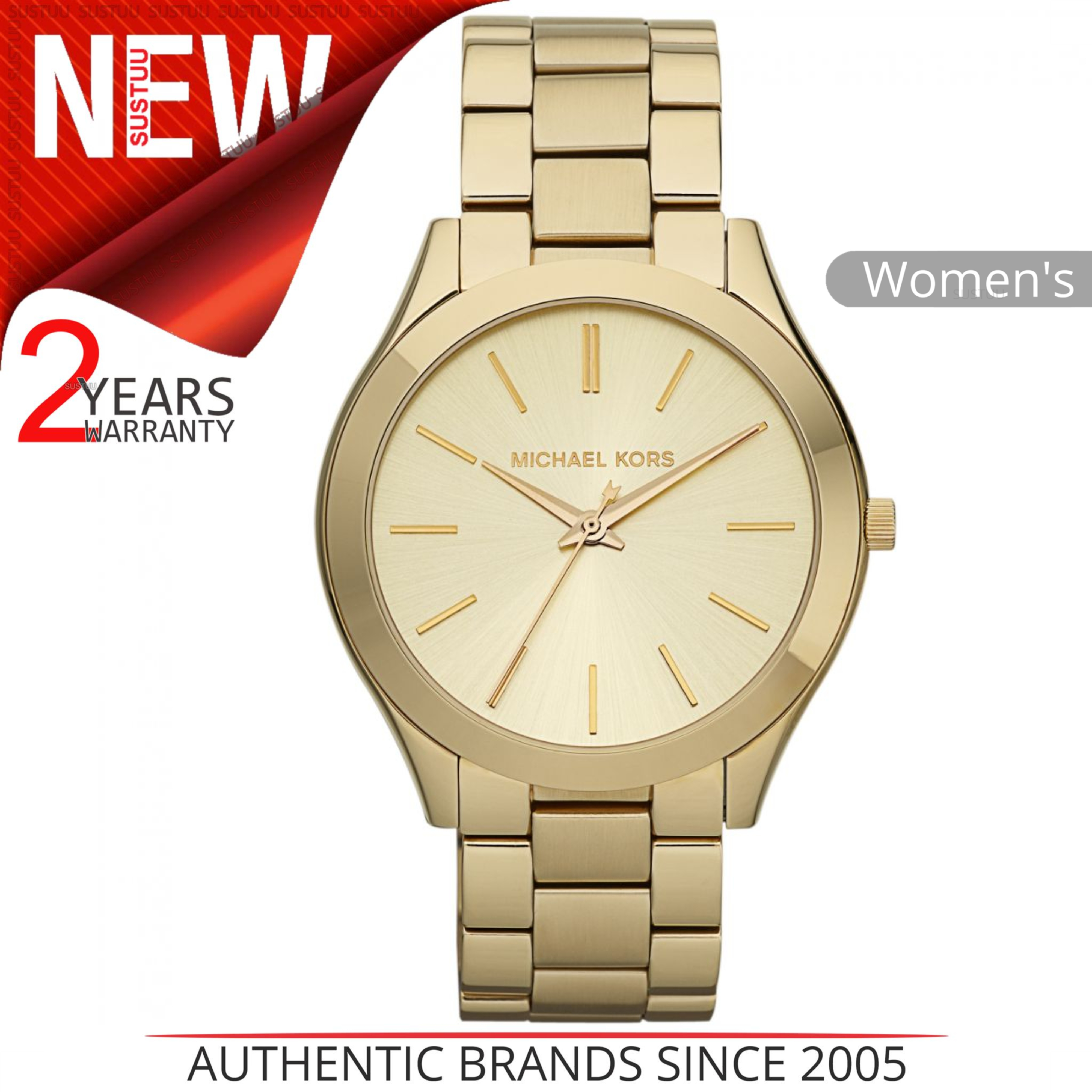 48b8ae8acbb1 Details about Michael Kors Runway Ladies  Watch MK3179│Round Champagne Dial│Gold  Tone Bracelet