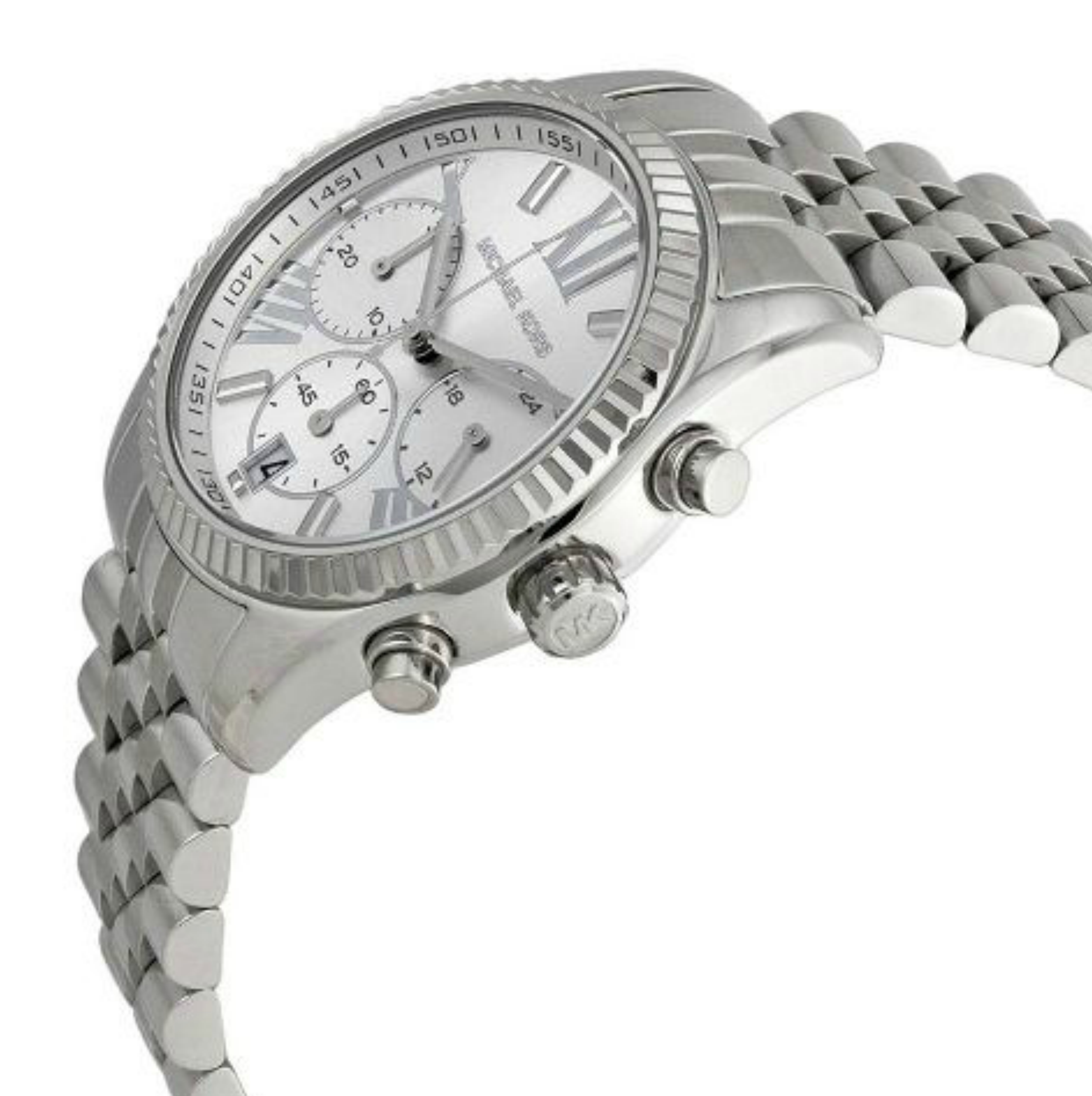 Michael Kors Lexington Ladies Silver Tone Chronograph