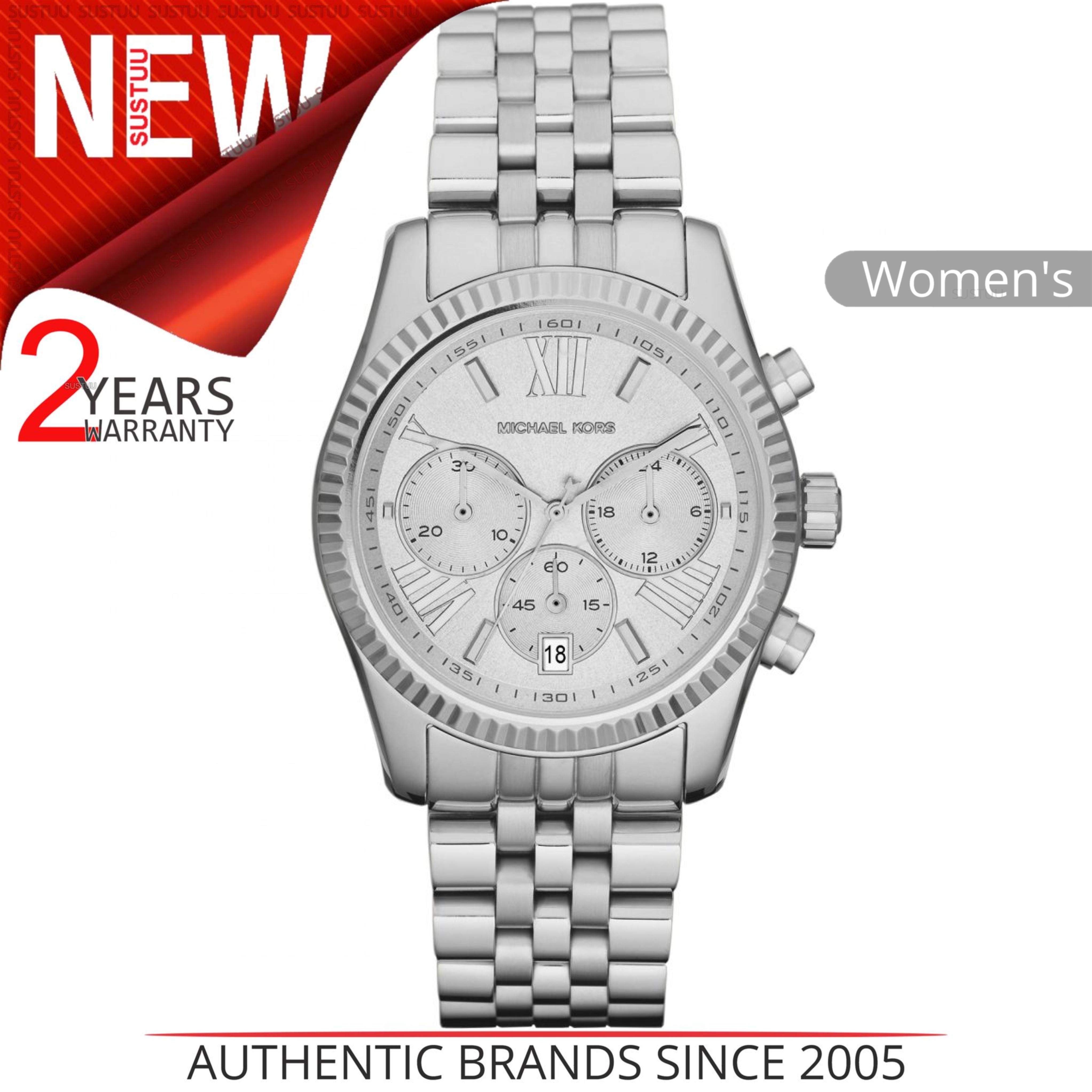 e4a7e07dcd SENTINEL Orologio da donna Michael Kors Lexington MK5555│ Quadrante  cronografo argentato - Fascia bracciale