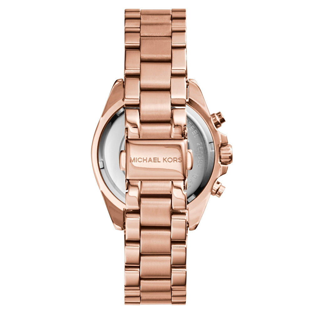 michael kors ladies bradshaw rose gold tone chronograph. Black Bedroom Furniture Sets. Home Design Ideas