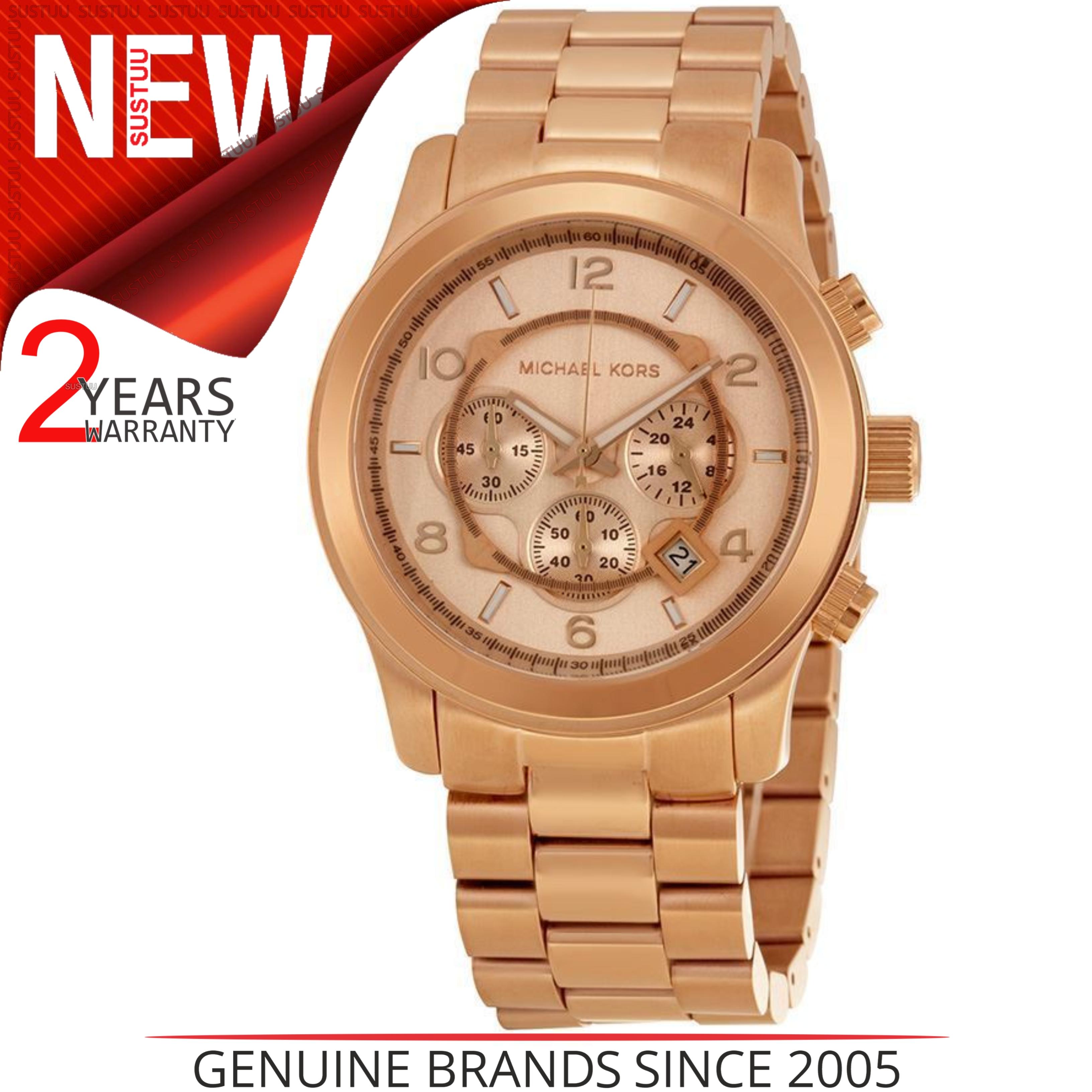 94dacb3654bb Details about Michael Kors Ladies Runway Watch MK8096│Chronograph│Rose Gold  Tone Designer
