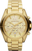 Michael Kors Bradshaw Ladies Gold Tone Chronograph Midsize Designer Watch MK5605