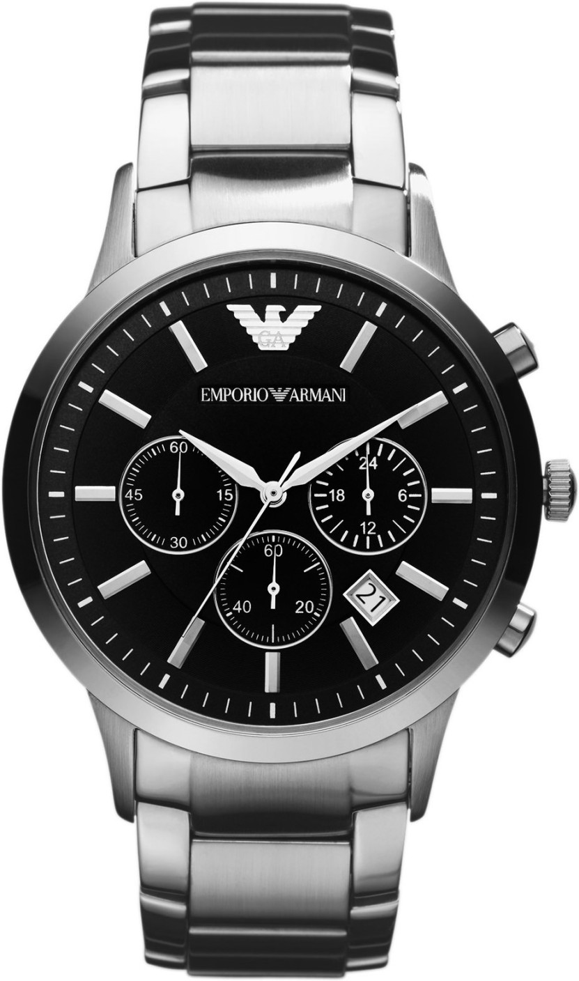Emporio Armani Men's Stainless Steel Case Chrono Design Bracelet Watch AR2434