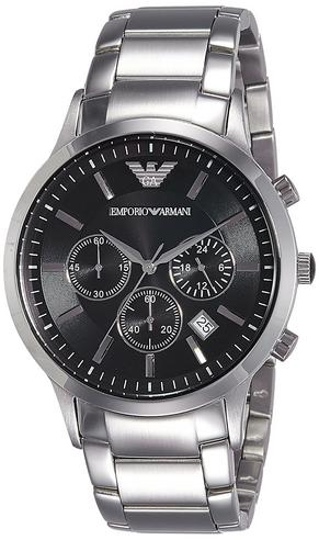 Emporio Armani Men's Stainless Steel Case Chrono Design Bracelet Watch AR2434 Thumbnail 2