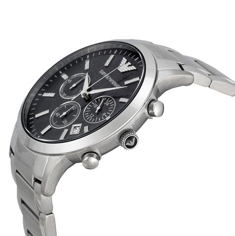 Emporio Armani Men's Stainless Steel Case Chrono Design Bracelet Watch AR2434 Thumbnail 3