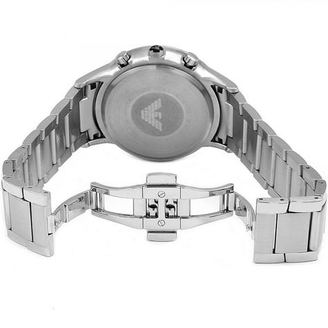 Emporio Armani Men's Stainless Steel Case Chrono Design Bracelet Watch AR2434 Thumbnail 4