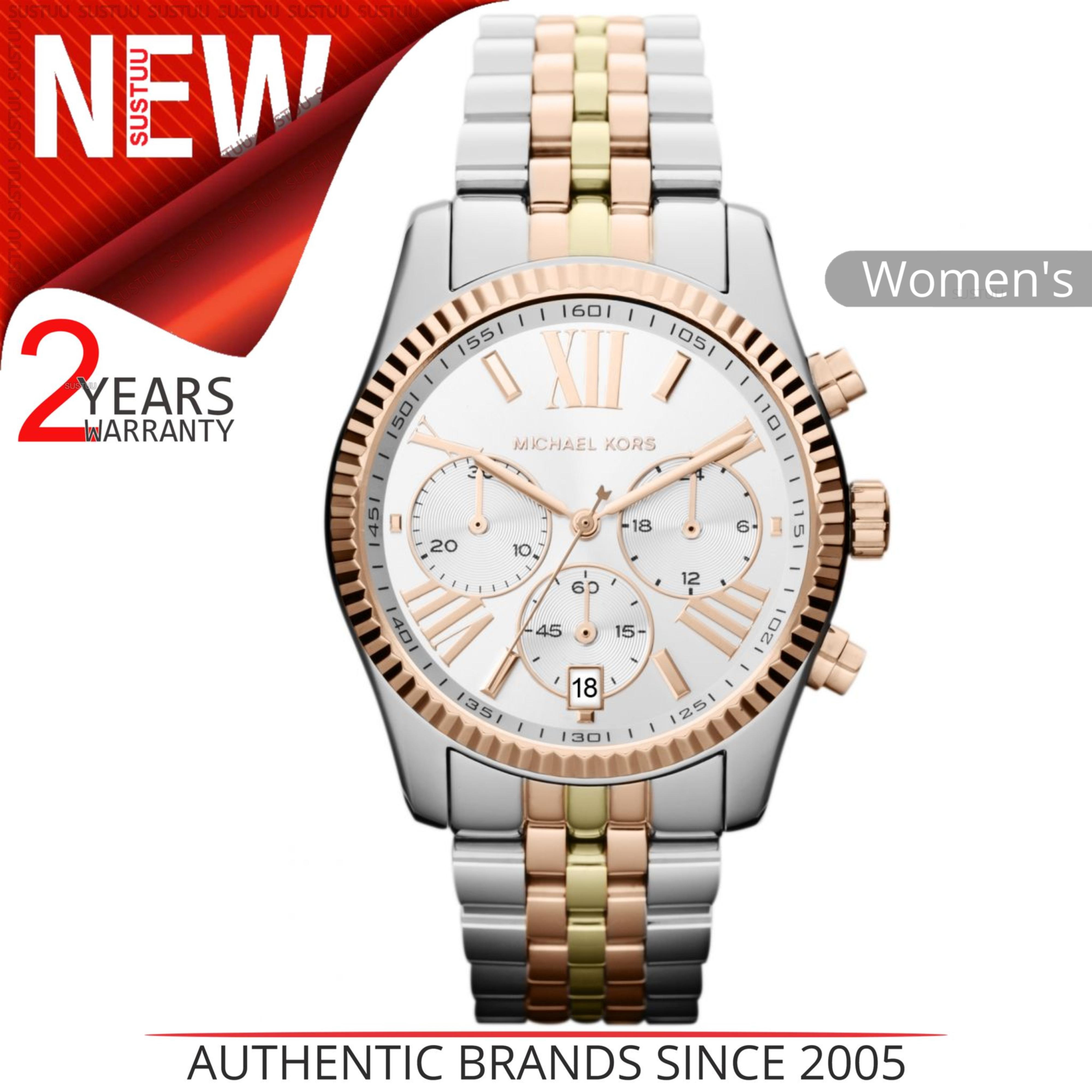 efa01d650e16 Details about Michael Kors Lexington Women s Watch│Chronograph Dial│Tri Tone  Bracelet│MK5735