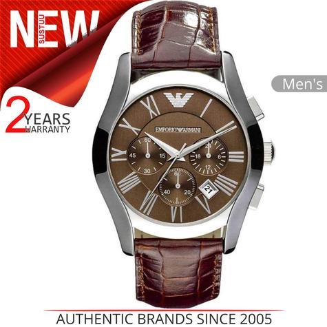Emporio Armani Classic Men's Watch?Chronograph Design?Brown Leather Strap?AR0671 Thumbnail 1