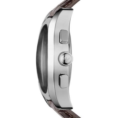 Emporio Armani Classic Men's Brown Leather Strap Chrono Designer Watch AR0671 Thumbnail 2