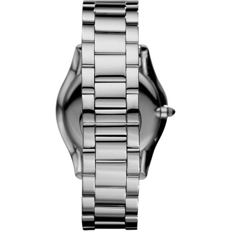 Emporio Armani Gent's Super Slim Black Dial Stainless Steel Bracelet Watch 2022 Thumbnail 6