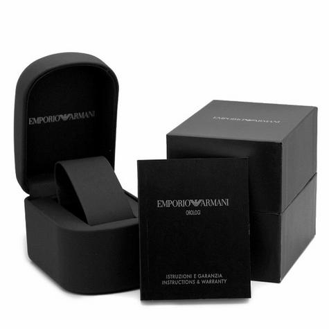 Emporio Armani Gent's Super Slim Black Dial Stainless Steel Bracelet Watch 2022 Thumbnail 7