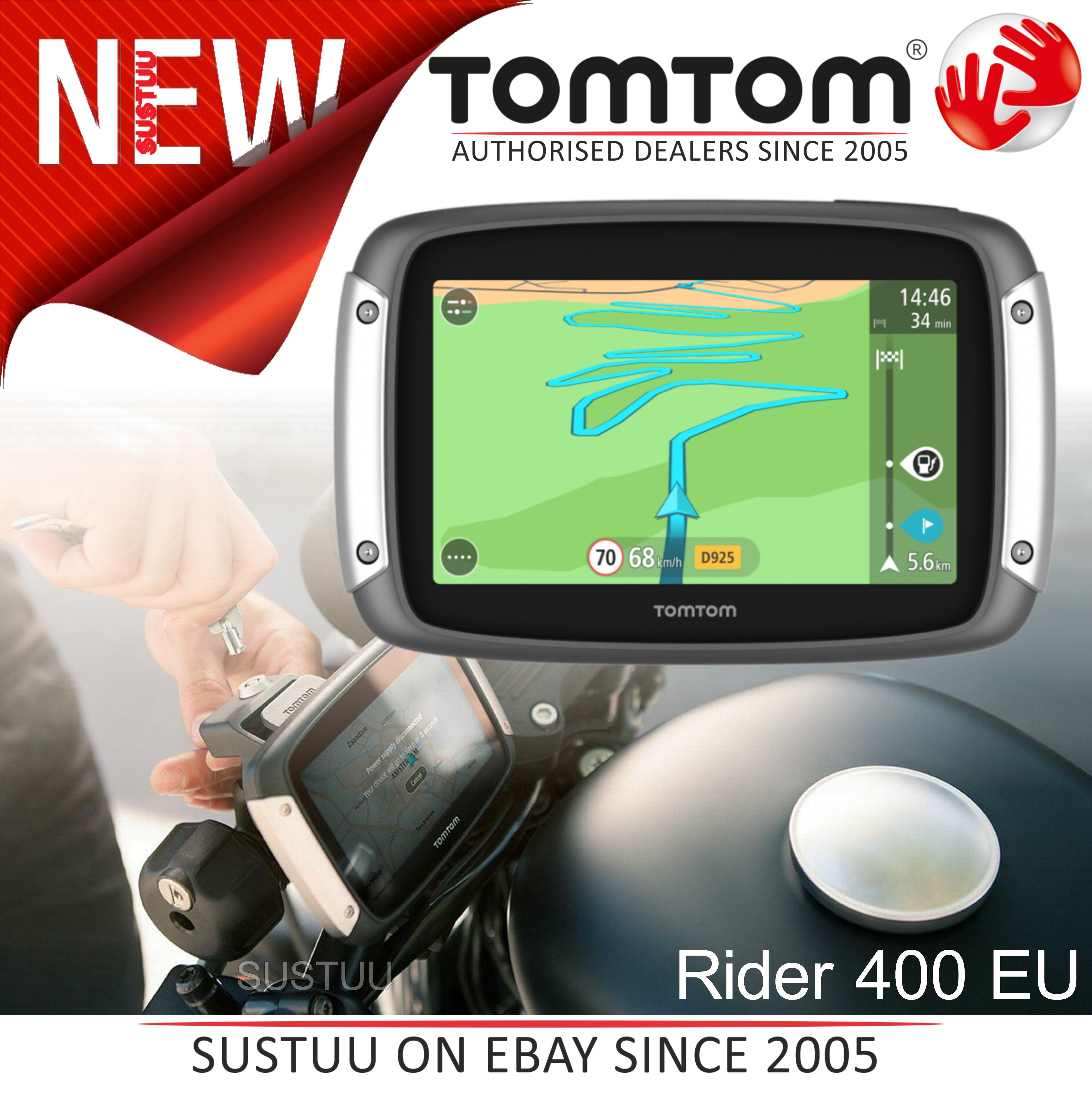 Détails sur Tomtom Rider 400 2017 V6│Motorcycle Scooter GPS SatNav│FREE  LIFETIME UK EU Maps