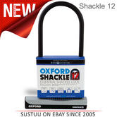 Oxford Bike Cycle Bicycle 12 Essential Shackle 12 Lock with Carry Bracket | LK331
