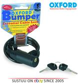 Oxford Bumper Bike Cycle Bicycle Motorbike Helmet Cable l Lock l Black l OF02 l