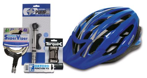 Oxford Cycle Bundle Adult 2 L/XL?Puncture Kit?Multi Tool?Mini Pump - Blue Thumbnail 1