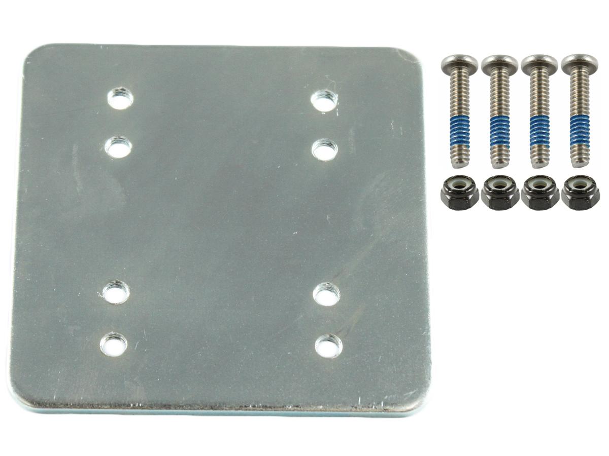 3 x 3 Backer Plate w/ AMPS & 2 x 2.5 with Hardware | RAM-202-225BU | 1 Year Warranty