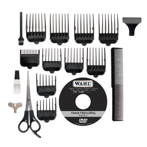Wahl Deluxe Vogue Mains Hair Clipper-Cutting Machine Kit | Beard Trimmer | 79305-013 Thumbnail 3