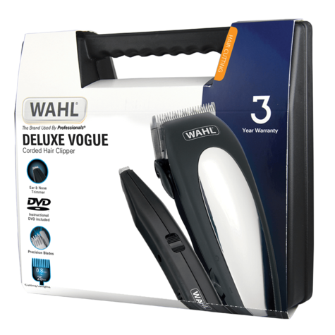 Wahl Deluxe Vogue Mains Hair Clipper-Cutting Machine Kit | Beard Trimmer | 79305-013 Thumbnail 4