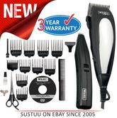 WAHL Deluxe Men?s Hair Clipper Beard Trimmer Complete HairCutting Machine Kit