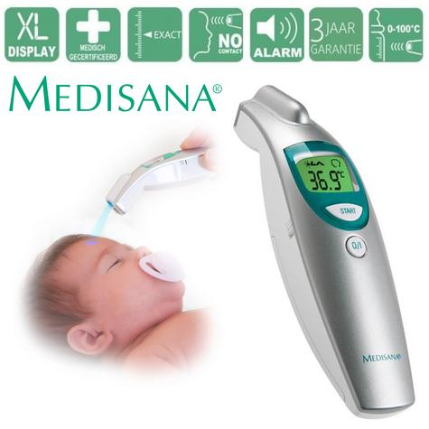 Medisana Baby Kids Infrared Thermometer Contactless Temperature Auto Diagnosis Thumbnail 1
