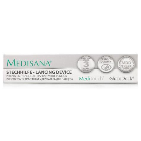 Medisana MediTouch GlucoDock Diabetic Testing Pen Blood Glucose Lancing Device  Thumbnail 2
